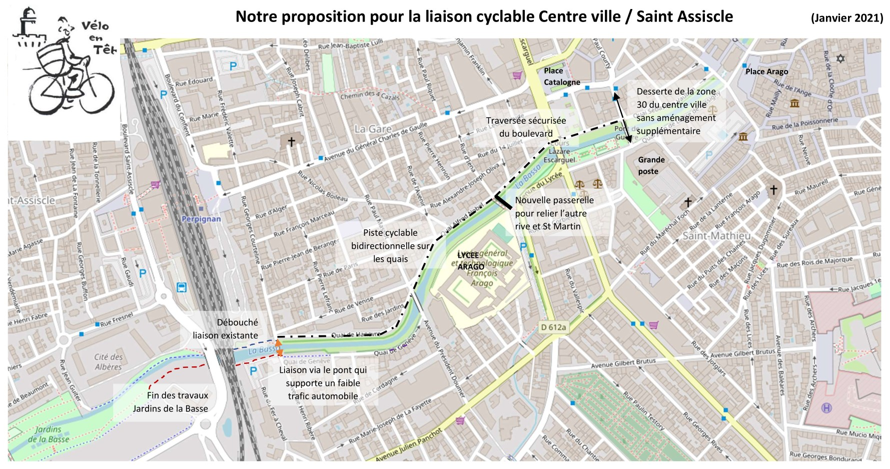 Proposition liaison cyclable Basse