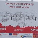Chantier d'extension du parc Sant Vicens : pas de déviation pour les vélos !